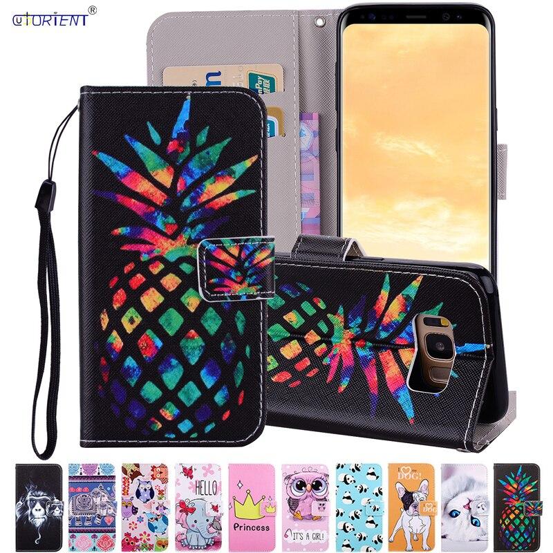 Para Samsung Galaxy S8 plus S 8 S8 + SM-G955FD SM-G955F Flip de cuero de la cubierta del teléfono de S8 + 8 S SM G955 G955FD G955F casos bolsa