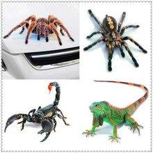 3D Car Sticker Animals Spider Gecko Scorpions Vinyl Decal for Ford Focus MK2 MK3 MK4 kuga Escape Fiesta Ecosport Mondeo Fusion