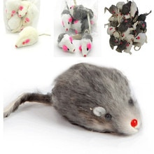 usd0.35/pc Mice Toys Mouse Real Fur Mixed Loaded Toys Black and White for Pet Cat Kitty Kitten with