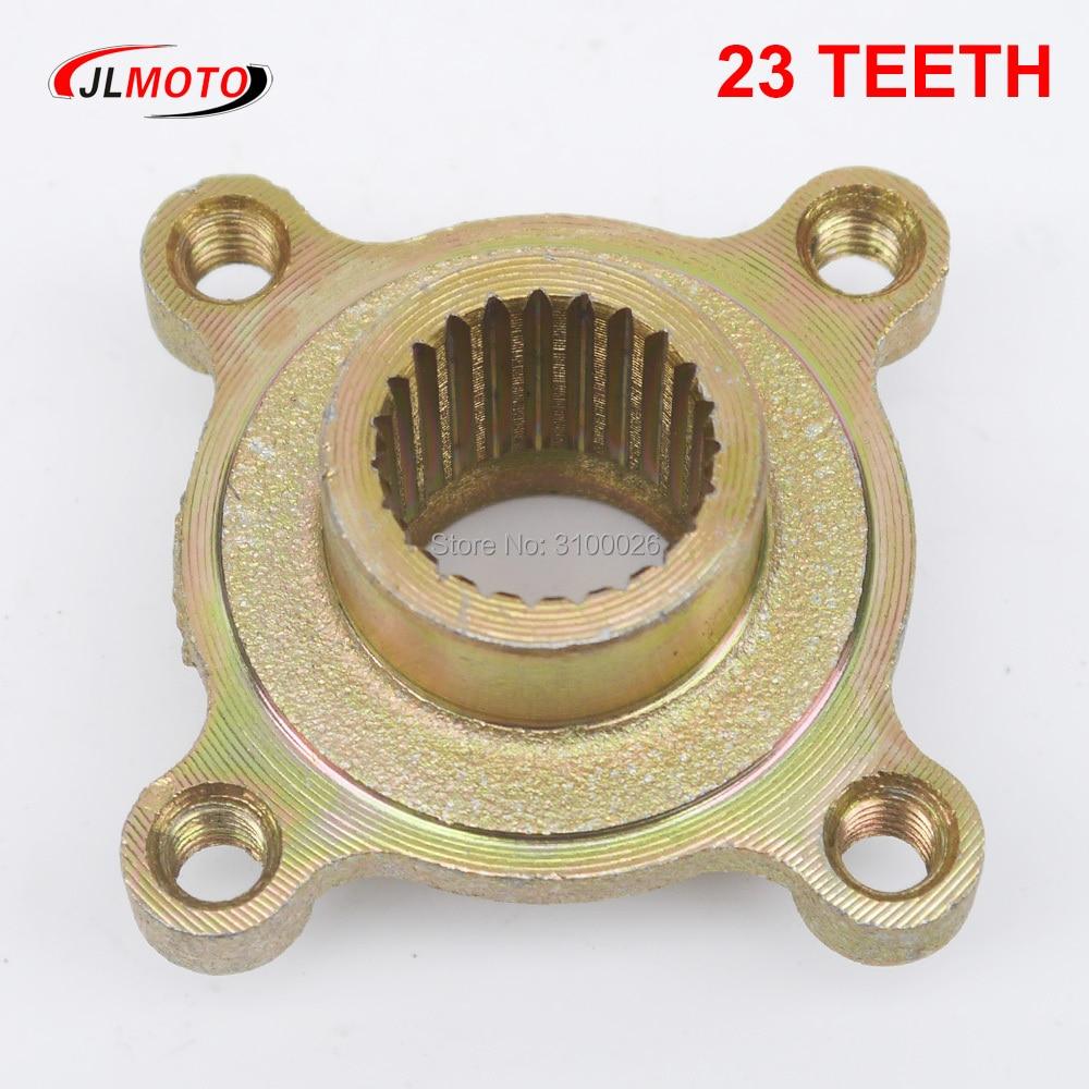 23 Teeth Rear Brake Disc Sprocket Hub Fit for Buggy Jinling Quad Bike 50cc 110cc 150cc 200cc JLA-13 Cargo ATV Parts