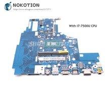 NOKOTION pour Lenovo YOGA ideapad 310-15IKB ordinateur portable carte mère I7-7500U CPU 5B20M31046 CG413 CG513 CZ513 NM-A982 carte principale