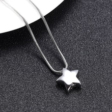 IJD9993 collier durne de crémation étoile délicate en acier inoxydable pour cendres de lêtre cher, bijoux durne commémorative étoile funéraire