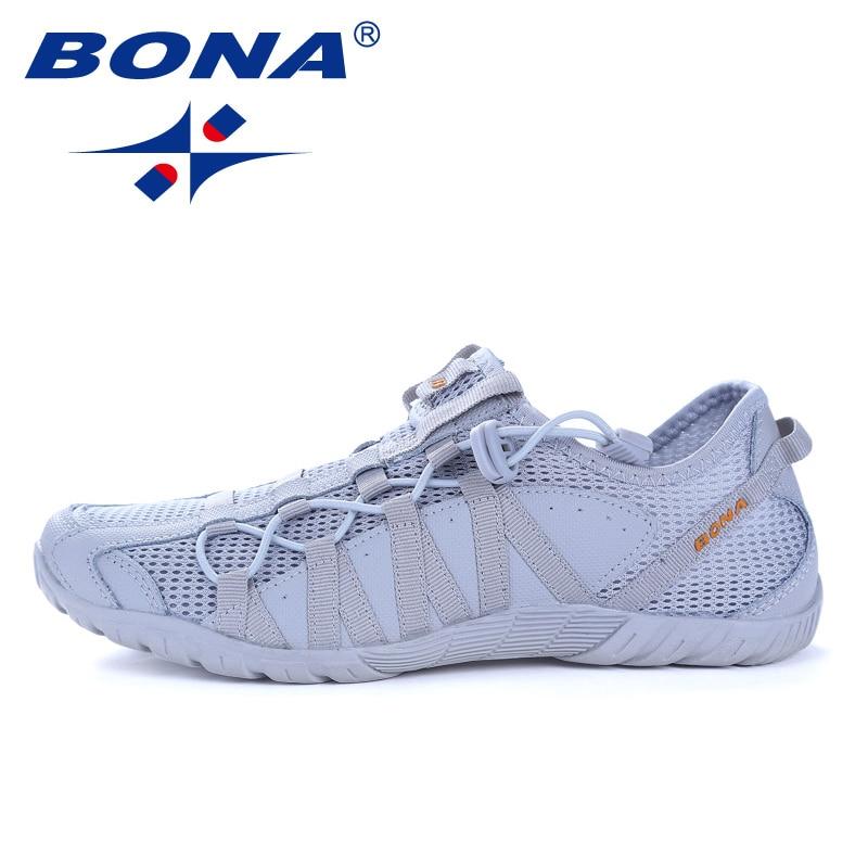 BONA-حذاء رجالي, حذاء جديد شعبي موضة رجالية أحذية الدانتيل أحذية رياضية في الهواء الطلق المشي الركض أحذية رياضية مريحة سريع شحن مجاني