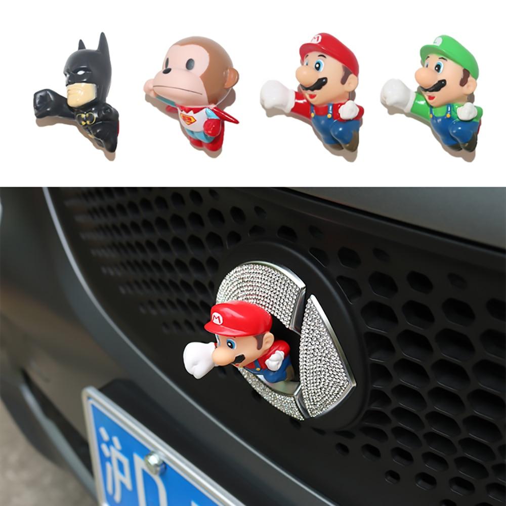 Pegatina de juguete modelo 3D para dibujo de Spider-Man de coche para Mercedes new smart forfour fortwo 453 451 450 LOGO accesorios decorativos para muñecas