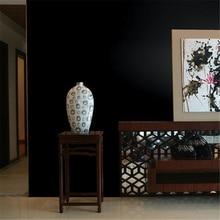 Wellyu-papier peint de fond de télévision   Motif de paille, couleur unie, noir, imperméable, hall dexposition, salon de mariée