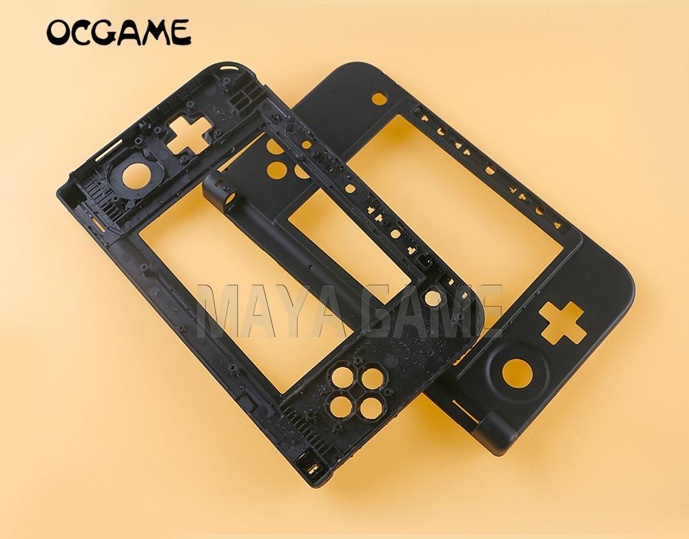 OCGAME оригинальная сменная оболочка корпус средняя пластиковая рамка для 3DS XL для 3dsxl черный корпус 10 шт./лот