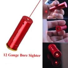 Rode Laser Droeg Sight Airsoft 12 Gauge Vat Cartridge Sight Voor 12GA Kaliber Militaire Scopes Tactische Jacht Laser Rood Koper
