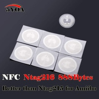 10pcs NFC Ntag216  888 Bytes Tag Sticker Label Key Tags Token Patrol Badge