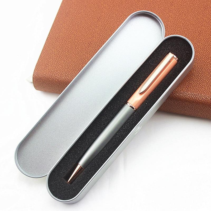 Металлическая шариковая ручка, роскошная Шариковая ручка для деловых подарков, письменные принадлежности для офиса и школы, канцелярские п...