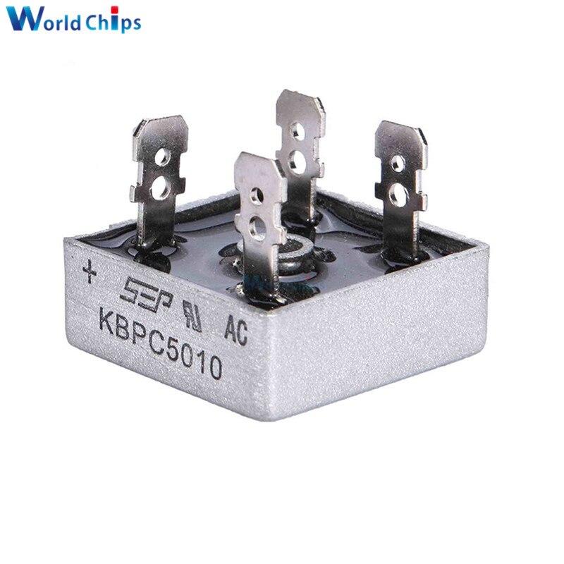 1PCS KBPC5010 50A 1000V Diode Bridge Rectifier Diode KBPC 5010 Power Rectifier Diode Elektronische Componentes