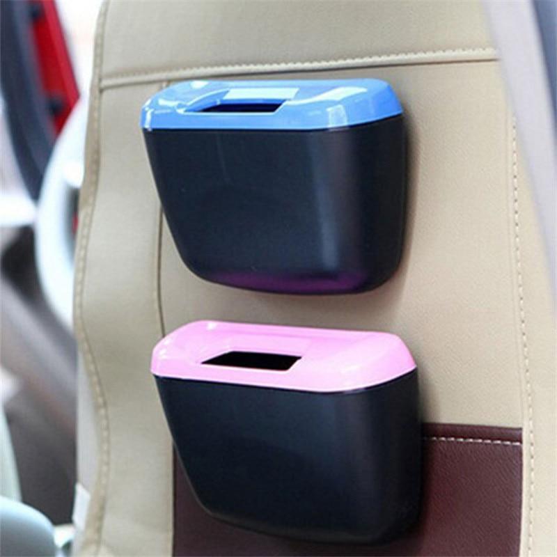 Criativo multifuncional universal mini carro plástico caixa de armazenamento de lixo carro suportes para pequenos objetos organizador do carro acessórios