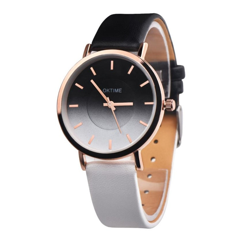 New Rainbow Clock Watches Women brand Fashion dress ladies Watches Leather women Analog Quartz Wrist Watch Relojes Mujer  #C wooden watches men s watch handmade elk wrist watch deer analog quartz clock male with full ebony wood band relojes para mujer