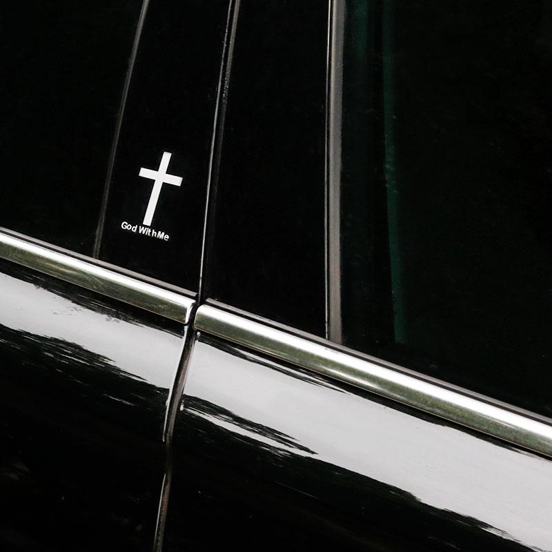 4x pegatina de vinilo reflectante Cruz para coche 2 colores Tuning Phone iPad Tablet Auto motocicleta accesorios de estilo de coche
