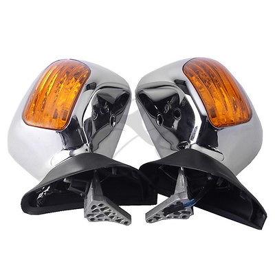 Cromo espejo retrovisor naranja señales de giro para Honda Goldwing GL 1800, 2001-2012