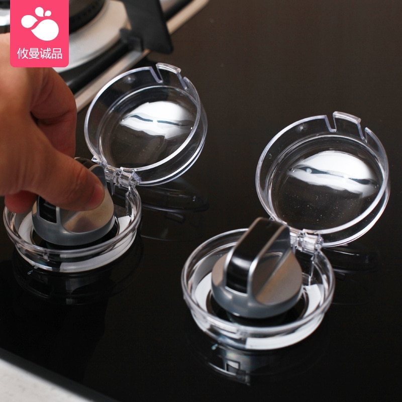 1Pcs Baby Safety Lock Stove Oven Knob Cover Gas Stove Locks Gas Stove Knob Cover Protector Children Protection Lid Oven Lock