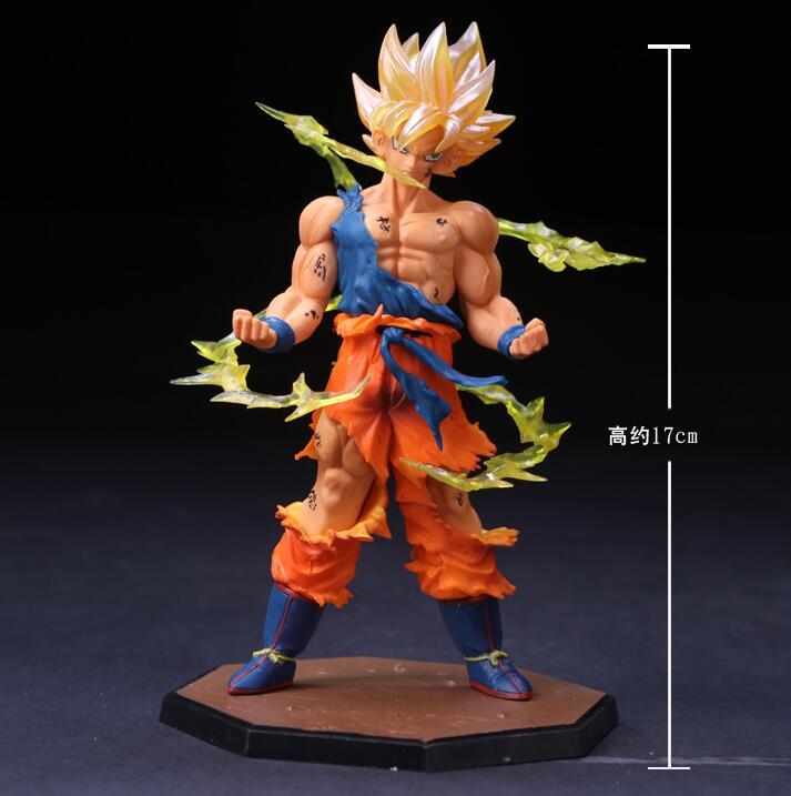 Dragon Ball Z Super Saiyan 17cm Son Goku Gokou Boxed PVC Action Figure Model Collection Toy Gift Dragonball Evolution Toys