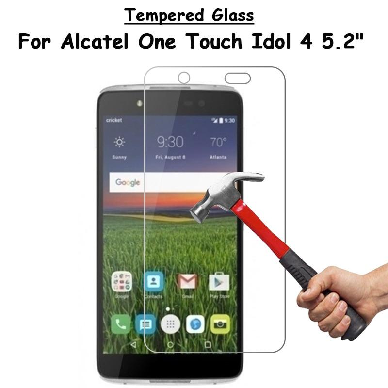 Закаленное стекло для Alcatel One Touch Idol 4 idol4, 5,2 дюйма OT 6055, ультратонкая Взрывозащищенная защитная пленка