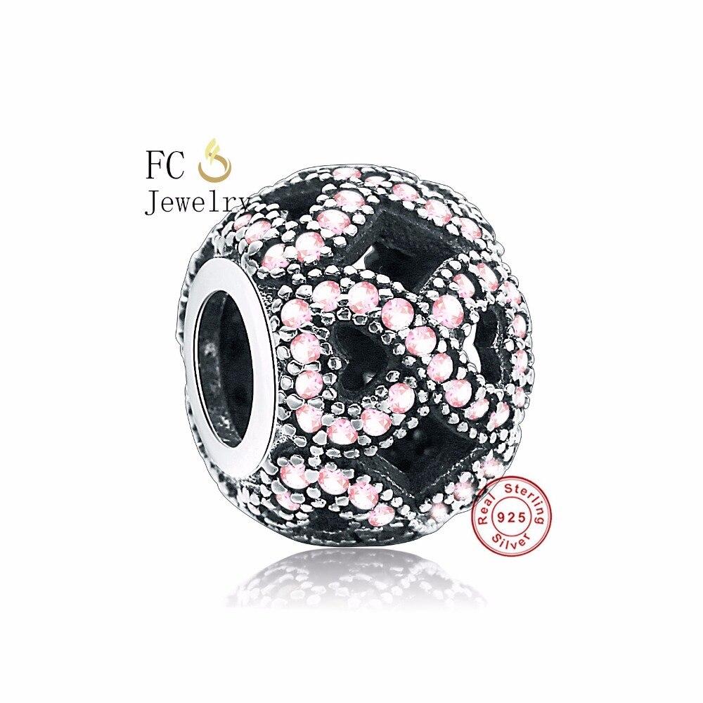 Gran oferta 925 plata esterlina amor infinito cuentas de CZ rosas Ajuste Original Pandora Charms Bracele plata Original 925 joyería de moda