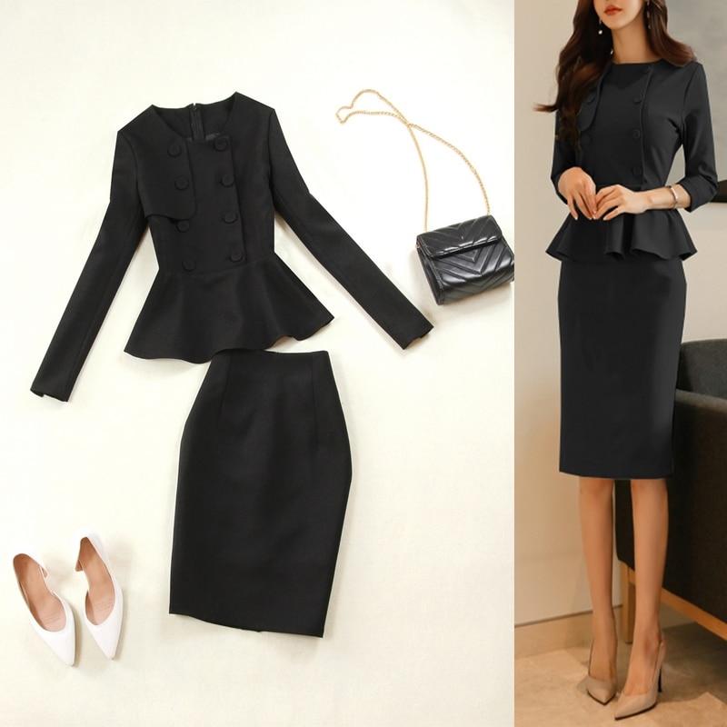 Pantalones Negros Para Mujer Trajes De Negocios Traje De Falda Para Mujer Ropa De Trabajo De Oficina Hecha A Medida Leather Bag
