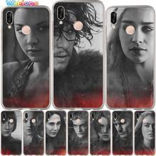 Game Thrones Daenerys Dragon Jon Snow Phone Case For Huawei P30 P20 Lite Pro P10 Lite Plus P9 Lite 2017 PSmart case Cover Etui