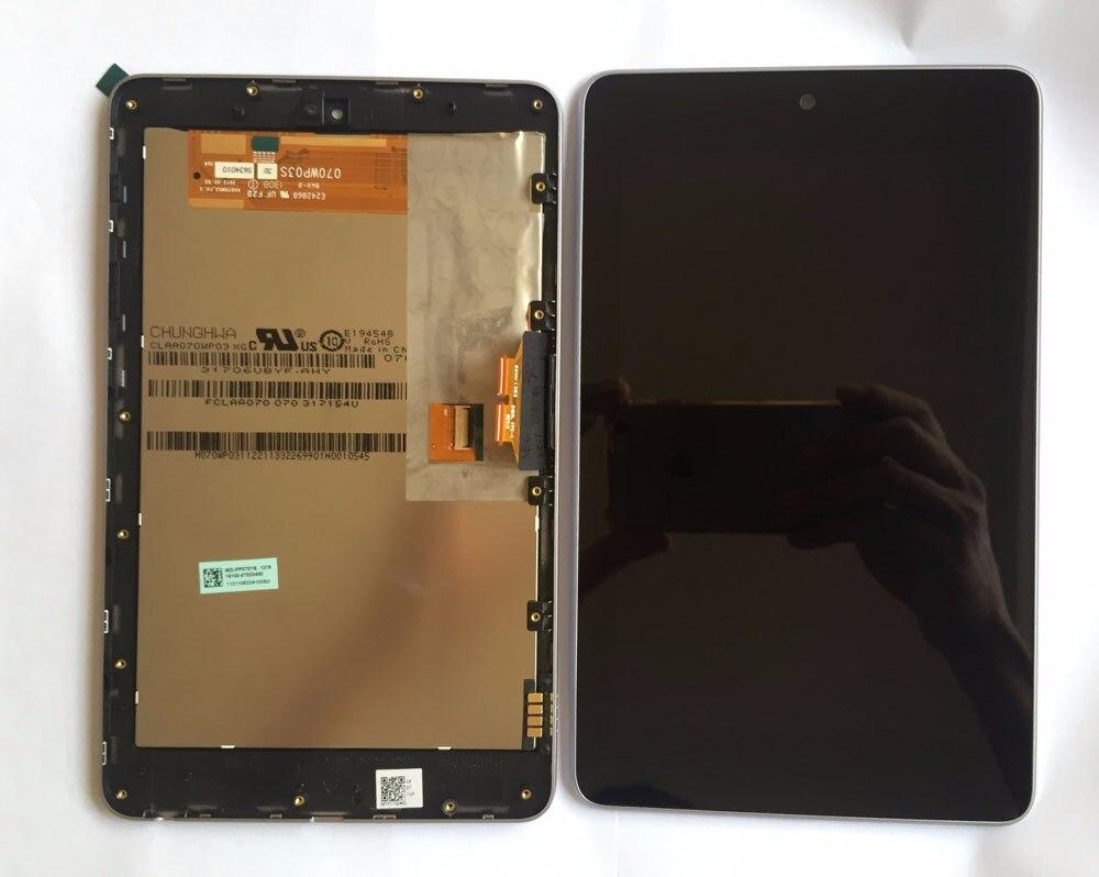 شاشة عرض LCD عالية الجودة + شاشة محول رقمي تعمل باللمس مع مجموعة إطار, لأجهزة ASUS Google Nexus 7 nexus7 2012 ME370T wifi