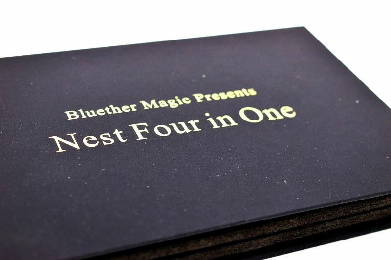 Cuatro Shell múltiple Dólar Morgan, nido cuatro en uno, trucos de Magia utilería mentalismo Magia Close Up Street Magia juguete, Gimmicks