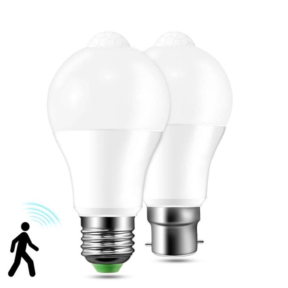 E27 PIR Motion Sensor Lamp Bulb 12W 18W E27 B22 LED Bulb AC85-265VLED Night Light For Corridor Aisle Stairs Balcony Lampada