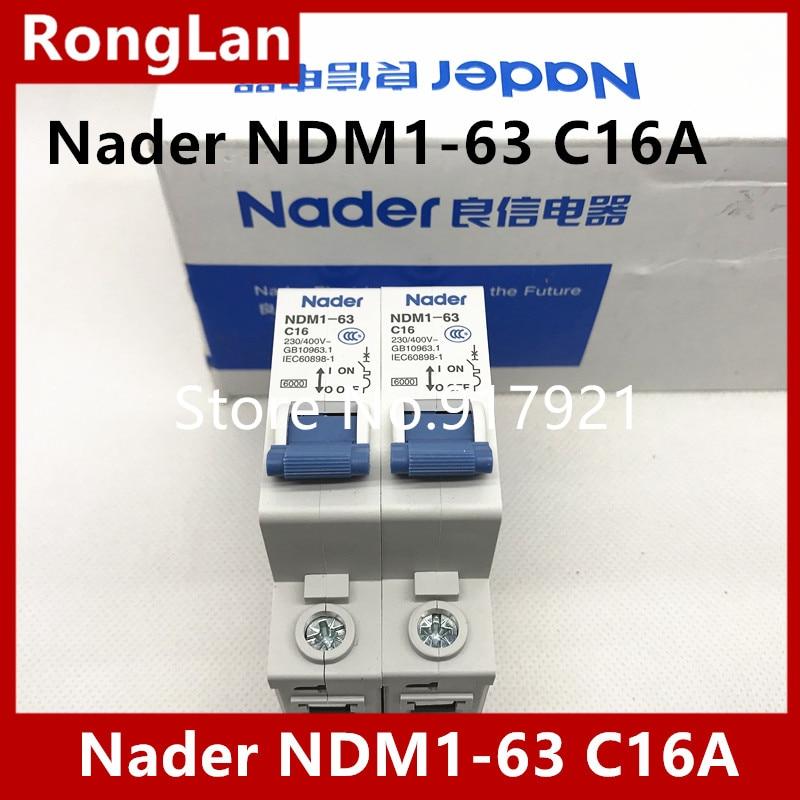Disyuntor de protección contra fugas con interruptor de aire NDM1-63-C16A serie C16 1P16A unipolar disyuntor en miniatura