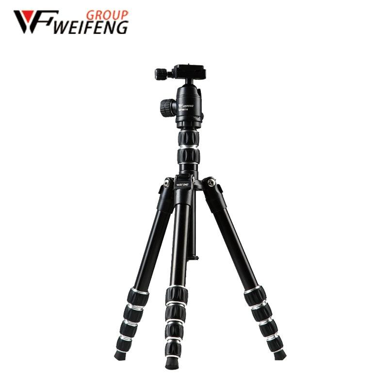 Trípode Weifeng WF861 trípodes de aleación de aluminio Reflex el trípode de fotografía de viaje portátil para cámara Digital SLR DSLR