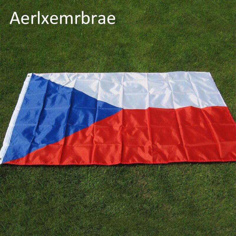 Envío Gratis, Bandera de aerlxemrbrae, 90*150 cm, bandera checa colgante de poliéster, bandera nacional de la República Checa