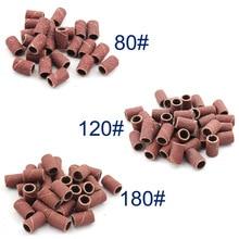 30 pièces/paquet Nail art bandes de ponçage pour manucure pédicure perceuse à ongles Machine 80 #120 #180 # chaque taille 10 pièces outils à ongles