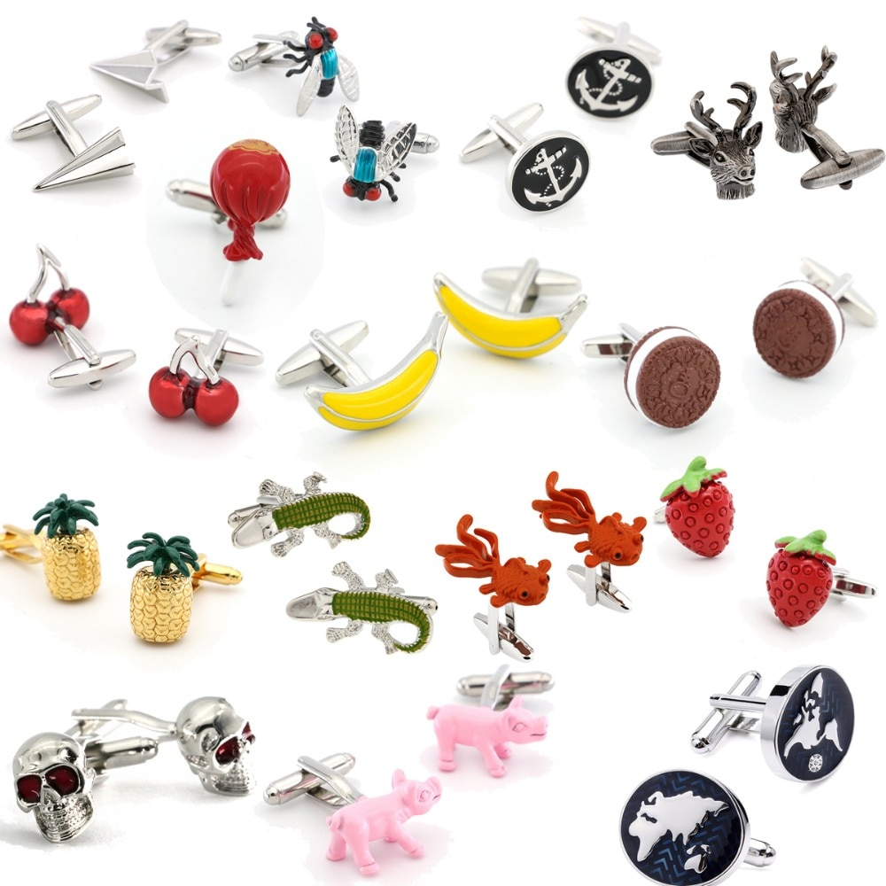 New Design Factory Price Retail Fashion Cufflinks Copper Material Novelty Design Cuff Links Free Shi