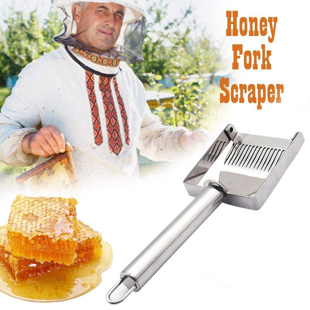 2019 nuevo estilo de acero inoxidable raspador de miel tenedor herramienta de apicultura tenedor para destapar miel pala herramientas puede hogar CSV