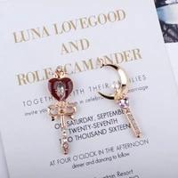 10pcs metal charms bead enamel colorful heart moon magic wand crystal charm jewelry making diy braceletsbangles gift