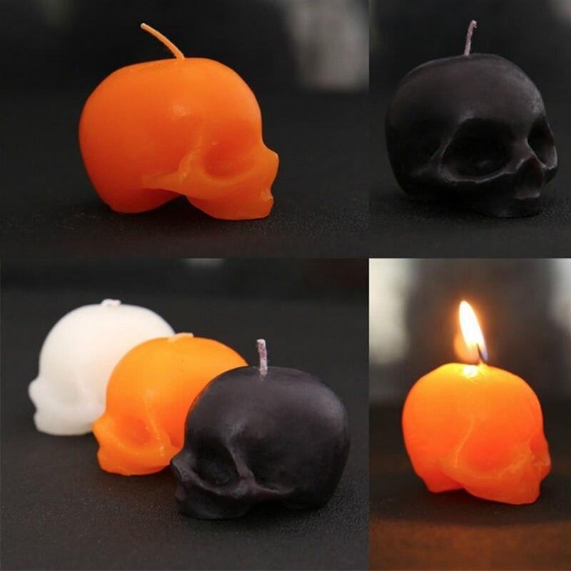 1 vela roja con calaveras en el interior, vela con Calavera, vela para llanto, vela pequeña sin humo, vela de Terror con esqueleto