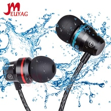 Auricular profesional MEUYAG de Metal con cable de 3,5mm, Auriculares deportivos con micrófono para Xiaomi