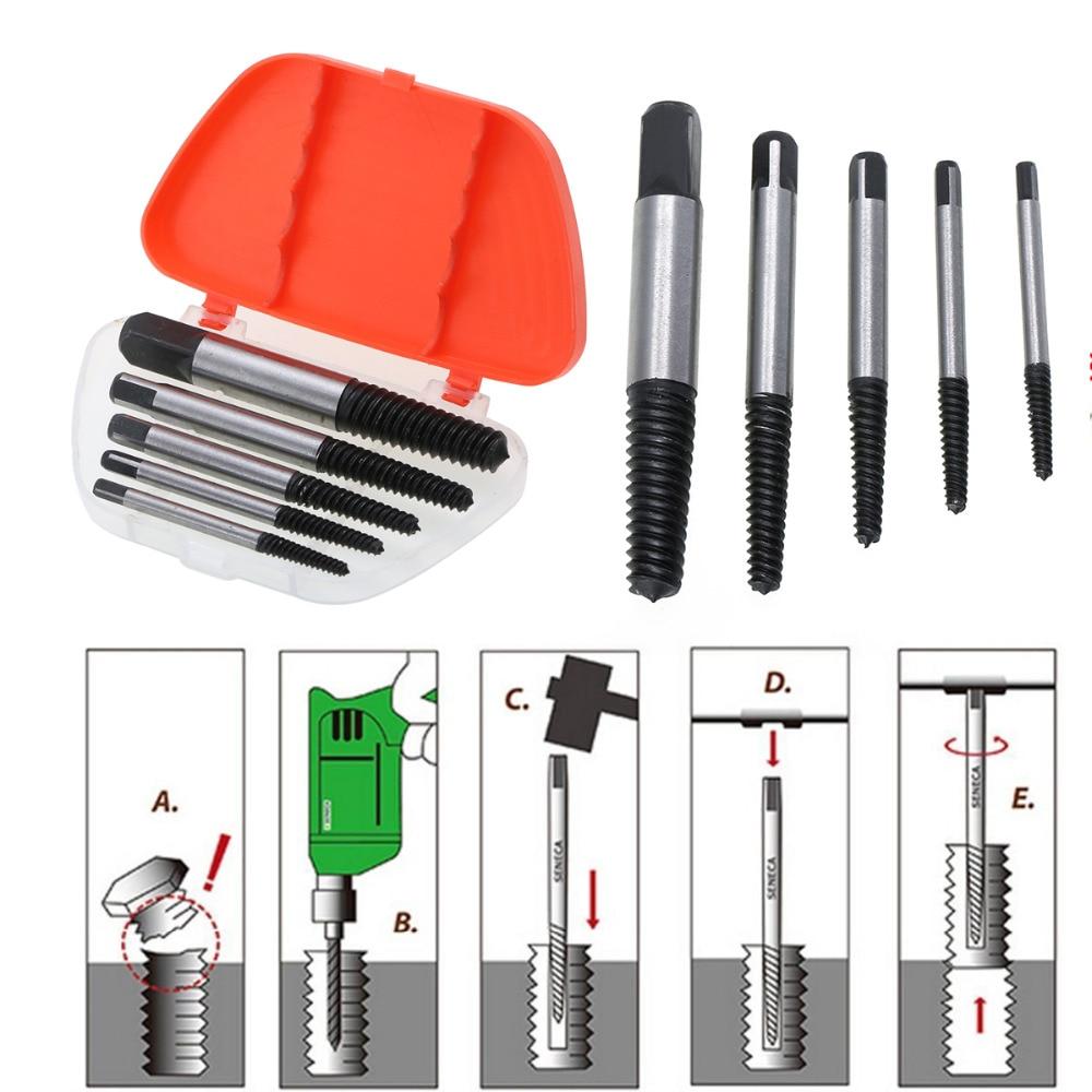 5 шт./компл. набор стальных винтовых экстракторов болтов высокого качества набор винтов Rxtractor набор инструментов для удаления стад 3-18 мм