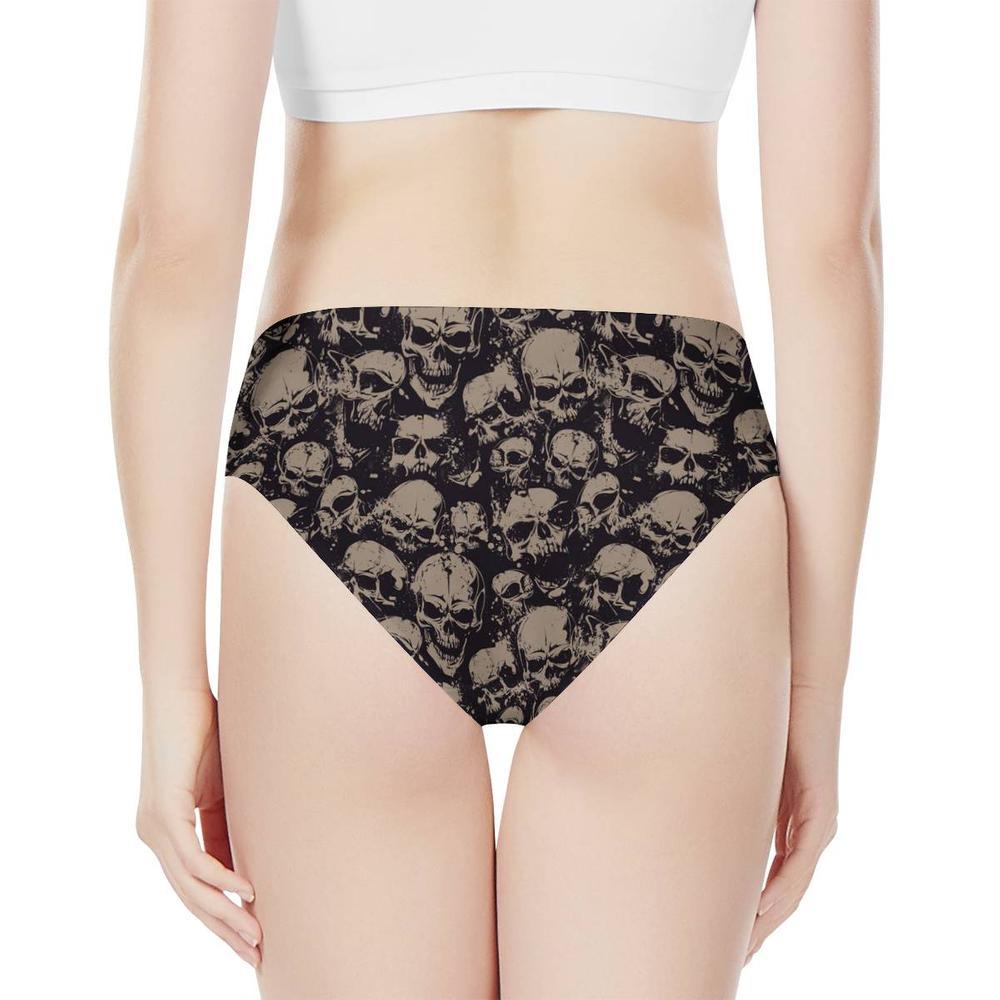 Moda sexy lingerie moda caveira padrão feminino calcinha bragas mujer roupa interior