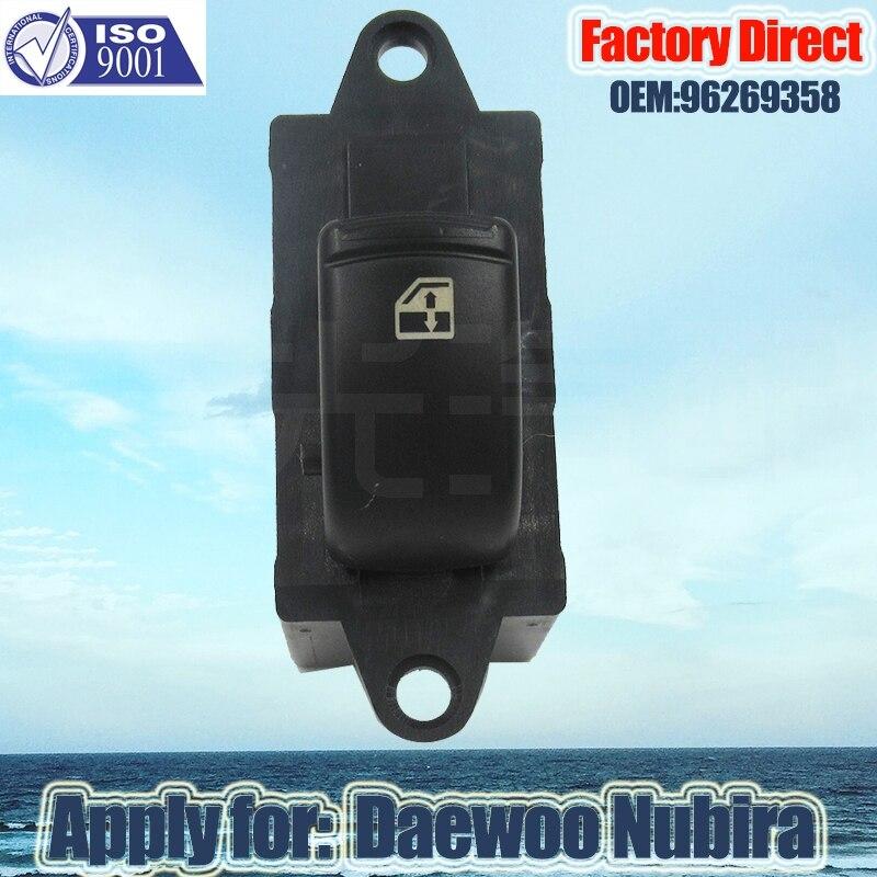 Factory Direct 6Pins Auto Power Window Switch New Master Window switch Apply for 1999 Daewoo Nubira 96269358 96190777 enlarge