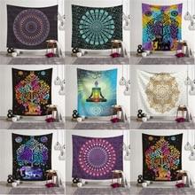 Tapisserie indienne Mandala Hippie murale   Couvre-lit, couverture de plage bohème, tapis de Table, décoration artistique pour la maison