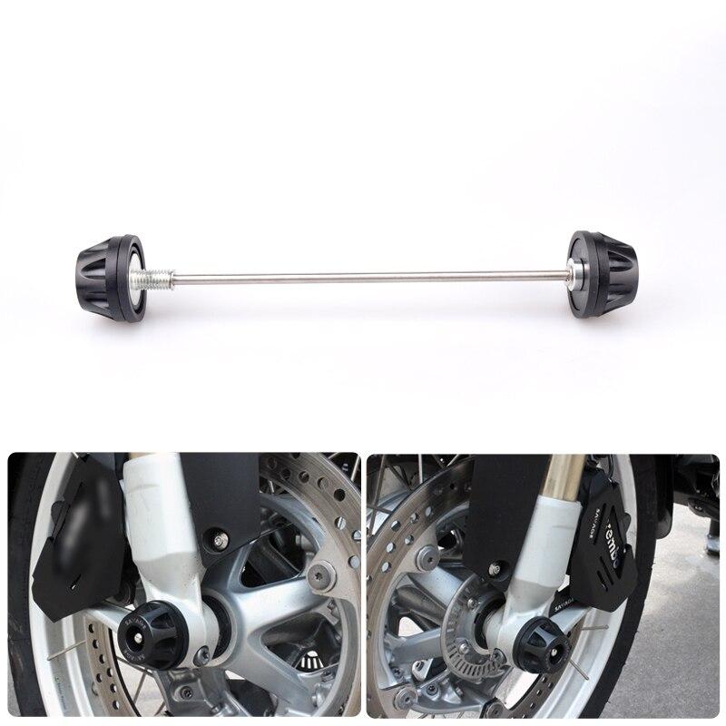 R1200GS para BMW R 1200GS 2008, 2009, 2010, 2011, 2012 R1200 GS delantero de la motocicleta del eje de la horquilla de la rueda Protector accidente deslizadores tapa Pad