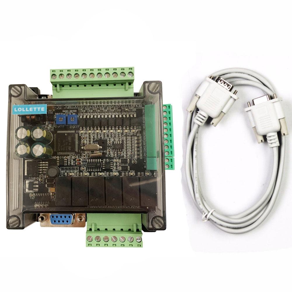 LE3U FX3U 14MR 6AD 2DA RS485 8 entrada 6 relé salida 6 Entrada analógica 2 analógica (0-10V) controlador de salida plc RTC (reloj en tiempo real)