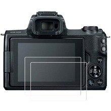 Debous 2 pièces Protecteur Décran pour Canon EOS M3 M5 M10 M50 LCD Numérique Appareil Photo Reflex 9 H Dur Optique En Verre Trempé Clair Peau Film