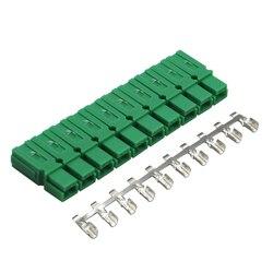 10 conjuntos x cor verde 45a 600 v pp45 conector de alimentação plug connet 10pcs contatos cobre automotivo 4wd caravana rv
