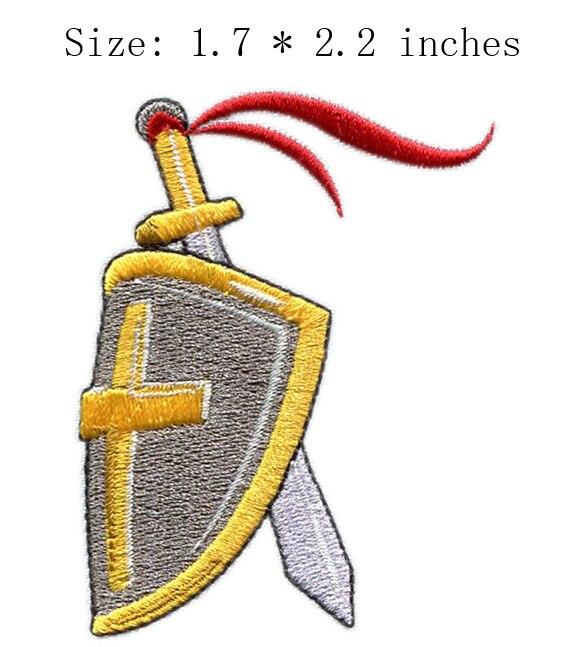 """Escudo y armas 1,7 """"parche amplio bordado para parches para ropa/insignia/bordado de punto de cruz"""