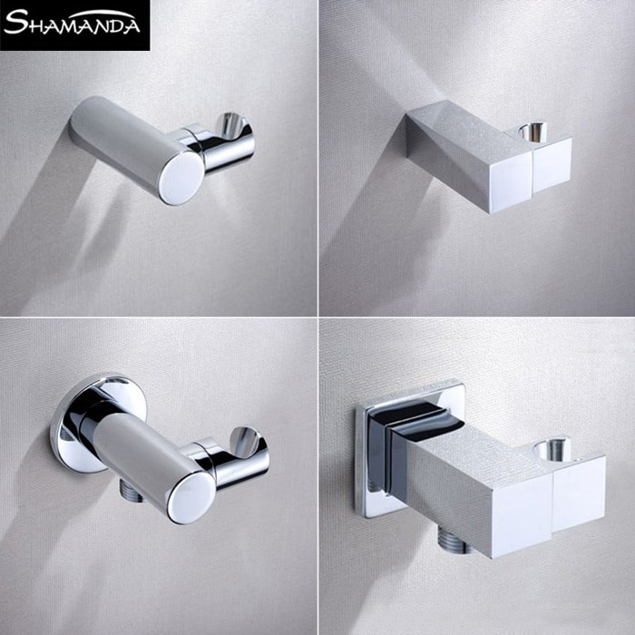 Free Shipping Brass Chrome Various Styles Square/Round Hand Shower Holder with/without Diverter Pedestal Bathroom Product