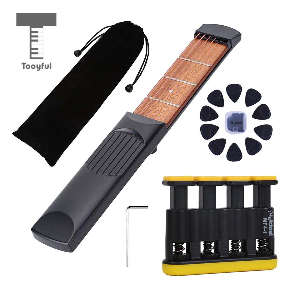 4 traste 6 cuerdas bolsillo diestro guitarra viaje conjunto de guitarra para principiantes niños práctica herramienta ejercicio para dedos instrumento Musical