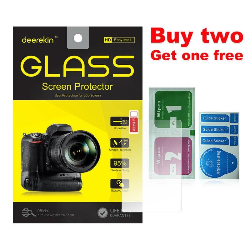 Deerekin 9H Tempered Glass LCD Screen Protector for Olympus OM-D E-M10 / EM10 Digital Camera