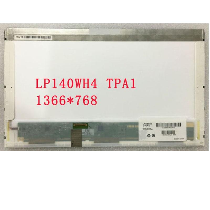 Frete grátis LP140WH4 TPA1 LP140WH4 TPB1 NOVA Display LED Screen Laptop 30 pinos