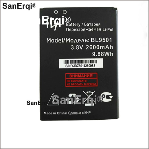 Para fly bl9501 bateria bl 9501 2600 mah bateria de substituição do telefone móvel